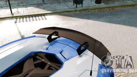 Lamborghini Aventador J Police для GTA 4 вид сбоку
