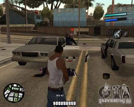C-HUD by Tom для GTA San Andreas второй скриншот