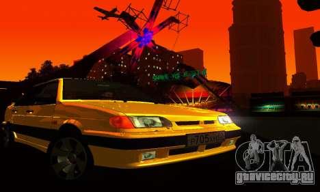 ВАЗ 2115 Light Tuning для GTA San Andreas вид изнутри