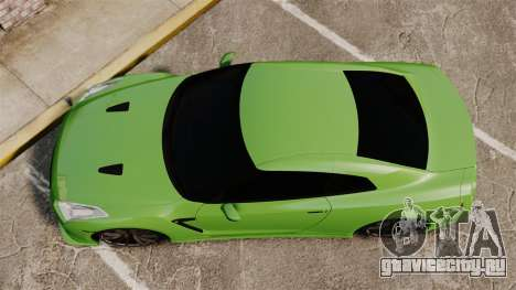 Nissan GT-R SpecV 2010 для GTA 4 вид справа