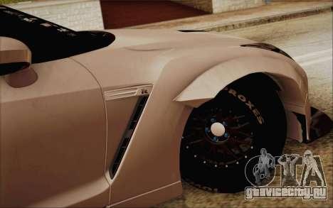 Nissan GT-R Liberty Walk для GTA San Andreas вид сзади слева