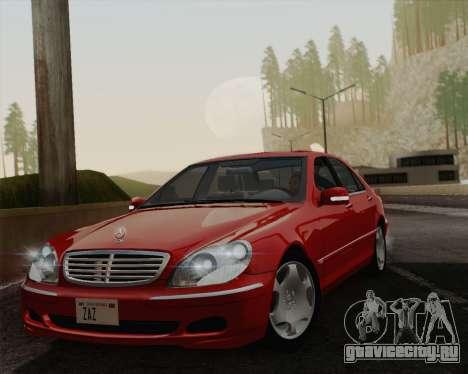 Mercedes-Benz S600 Biturbo 2003 для GTA San Andreas вид сзади
