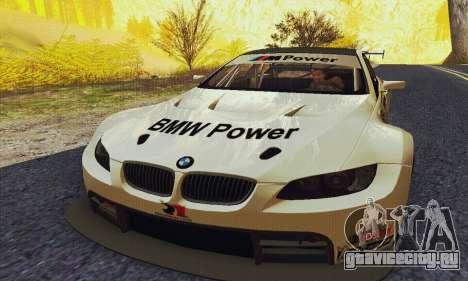BMW M3 GT2 E92 ALMS для GTA San Andreas вид сзади