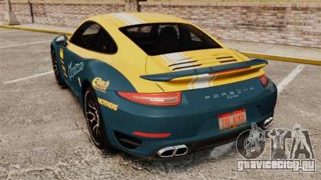 Porsche 911 Turbo 2014 [EPM] Alpinestars для GTA 4 вид сзади слева