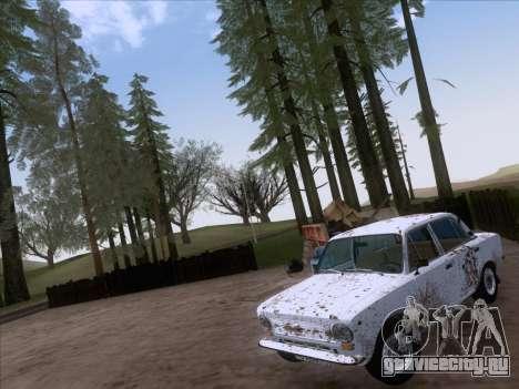 ВАЗ 21011 Дачная для GTA San Andreas вид изнутри