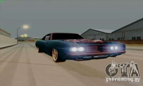Dodge Charger 1969 Big Muscle для GTA San Andreas вид слева