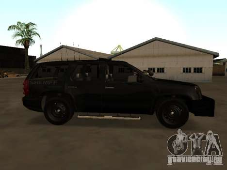GMC Yukon ATTF для GTA San Andreas вид слева