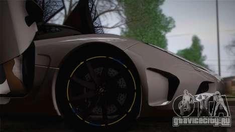 Koenigsegg Agera для GTA San Andreas вид сбоку
