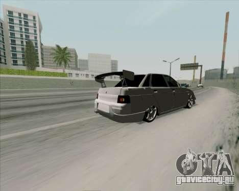 ВАЗ 2110 v2 для GTA San Andreas вид изнутри