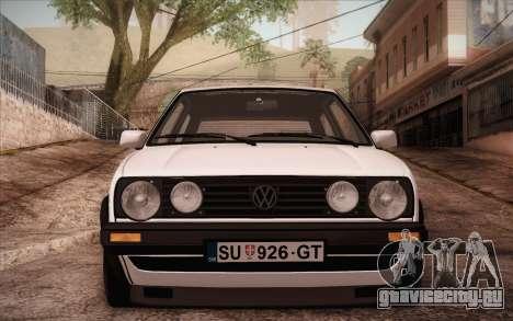 Volkswagen Golf Mk2 GTI для GTA San Andreas вид сзади слева