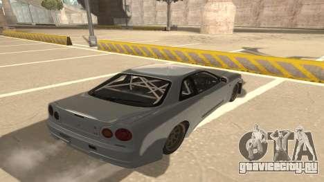 Nissan Skyline R34 для GTA San Andreas вид справа