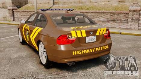 BMW 350i Indonesia Police v2 [ELS] для GTA 4 вид сзади слева