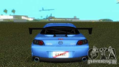 Mazda RX8 Type 1 для GTA Vice City вид сбоку