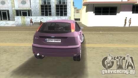 Ford Focus SVT для GTA Vice City вид сзади слева