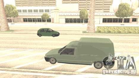 Fiat Fiorino Fire 07 для GTA San Andreas вид сзади