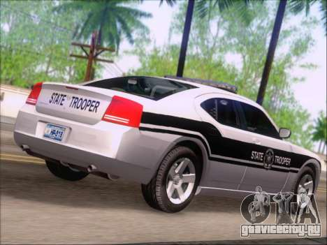 Dodge Charger San Andreas State Trooper для GTA San Andreas вид сзади