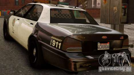 GTA V Police Cruiser для GTA 4 вид слева