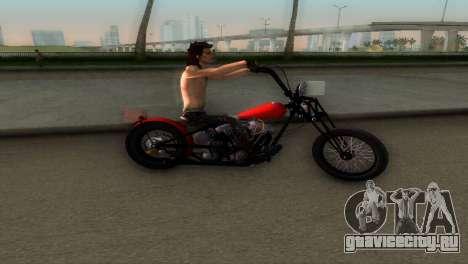 Harley Davidson Shovelhead для GTA Vice City вид сзади слева