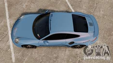 Porsche 911 Turbo 2014 [EPM] KW iSuspension для GTA 4 вид справа