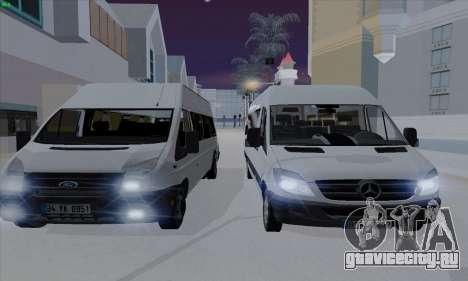 Ford Transit Jumgo для GTA San Andreas вид сбоку