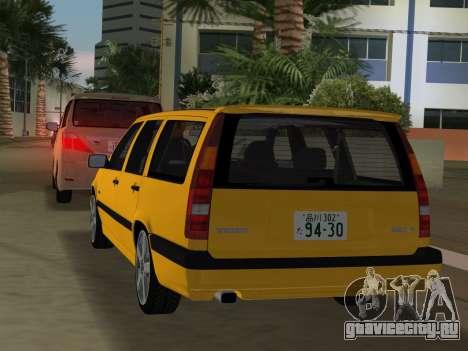 Volvo 850 R Estate для GTA Vice City вид сзади
