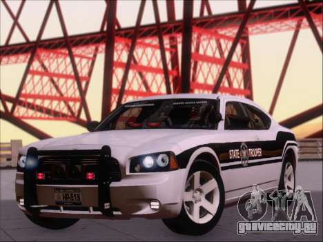 Dodge Charger San Andreas State Trooper для GTA San Andreas вид слева