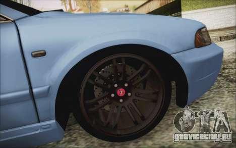 Audi S4 Hellaflush для GTA San Andreas вид сзади
