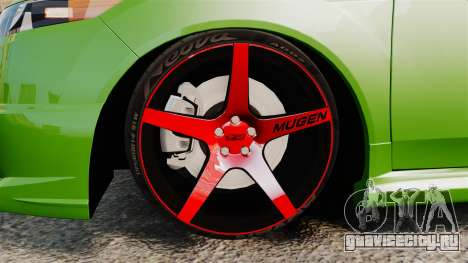 Acura TSX Mugen 2010 для GTA 4 вид сзади