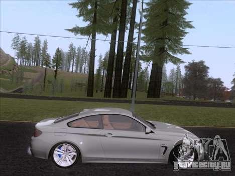BMW F32 4 series Coupe 2014 для GTA San Andreas вид сзади слева