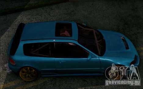 Honda Civic EG6 Tube Frame для GTA San Andreas вид сзади слева