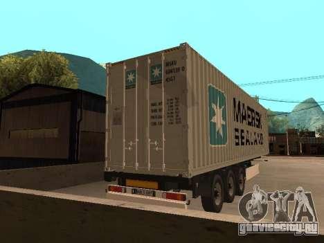 Прицеп MAERSK для GTA San Andreas вид слева