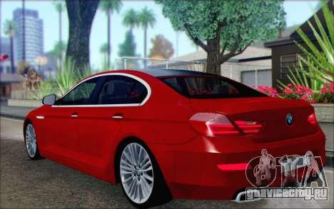 BMW 6 Gran Coupe v1.0 для GTA San Andreas вид слева