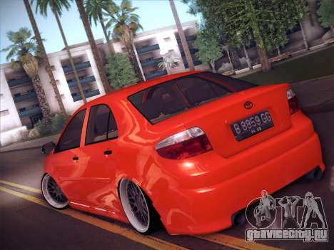 Toyota Vios Modified Indonesia для GTA San Andreas вид слева