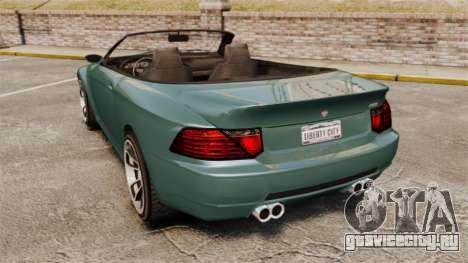 GTA V Zion XS Cabrio для GTA 4 вид сзади слева