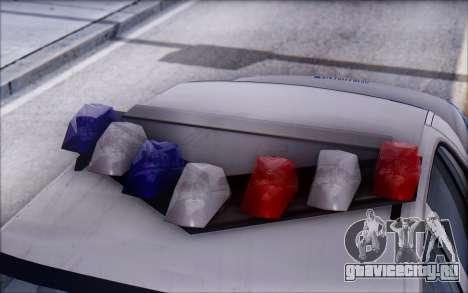 Ford Crown Victoria ДПС для GTA San Andreas вид изнутри