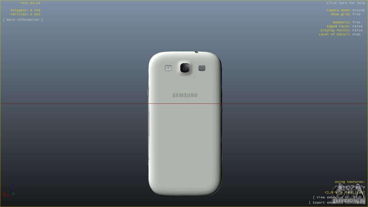 Samsung Galaxy S3 для GTA 4