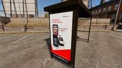 Новые рекламные постеры на автобусных остановках