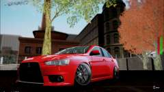 Mitsubishi Lancer Evolution X Stance Work для GTA San Andreas