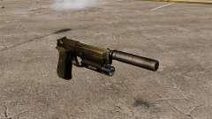 Самозарядный пистолет Beretta 92 с глушителем
