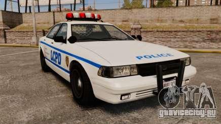 GTA V Police Vapid Cruiser LCPD для GTA 4