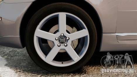 Volvo V70 Unmarked Police [ELS] для GTA 4 вид сзади