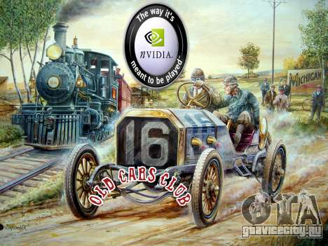 New loadscreen Old Cars для GTA San Andreas