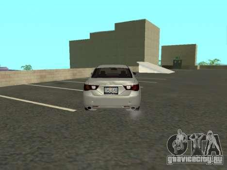 Toyota Mark X для GTA San Andreas вид справа