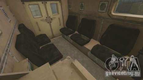 Cougar MRAP 4X4 для GTA 4 вид изнутри