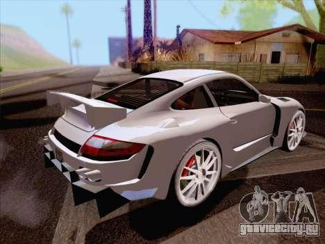 Porsche Carrera S для GTA San Andreas вид сзади слева