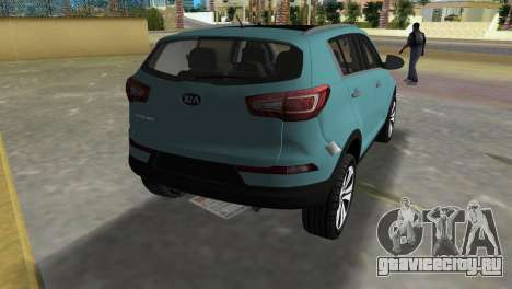 Kia Sportage для GTA Vice City вид сзади слева