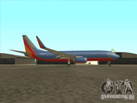 Boeing 737 Southwest Airlines для GTA San Andreas вид слева