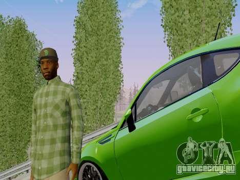 Член банды Grove Street из GTA 5 для GTA San Andreas третий скриншот