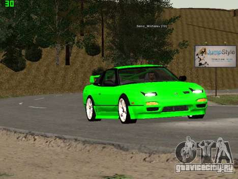 Nissan 240SX Drift Version для GTA San Andreas вид изнутри