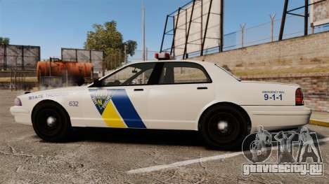 GTA V Vapid State Police Cruiser [ELS] для GTA 4 вид слева